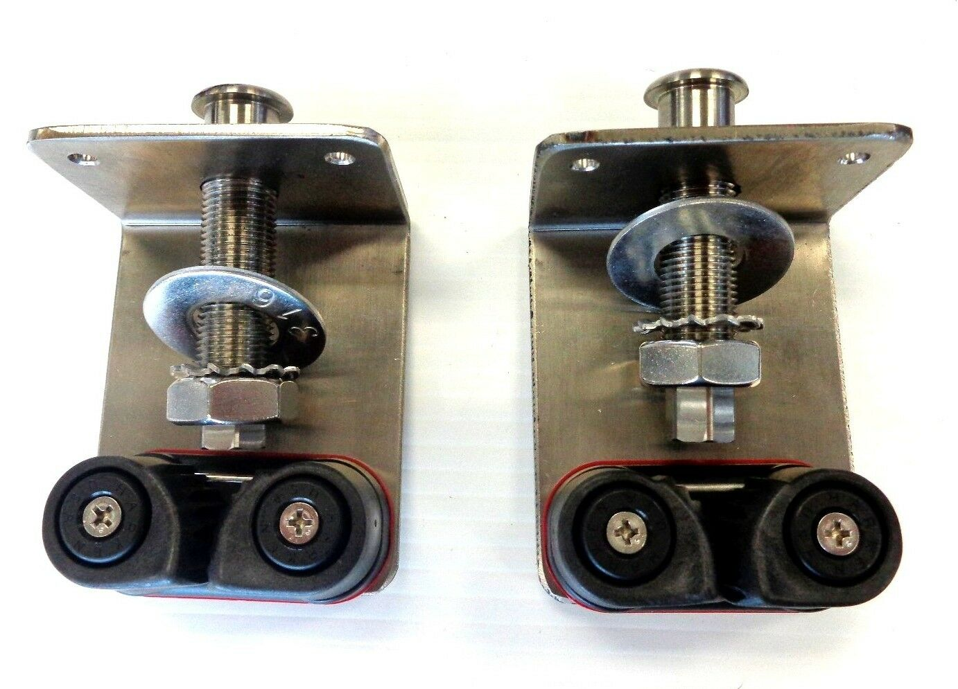 Abaco Adjustable Halyard Outrigger Tensioner Kit 3  Fairlead - Pair, Stainless