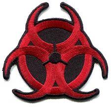 BIOHAZARD hazardous waste/radiation EMBROIDERED IRON-ON PATCH **Free Shipping**
