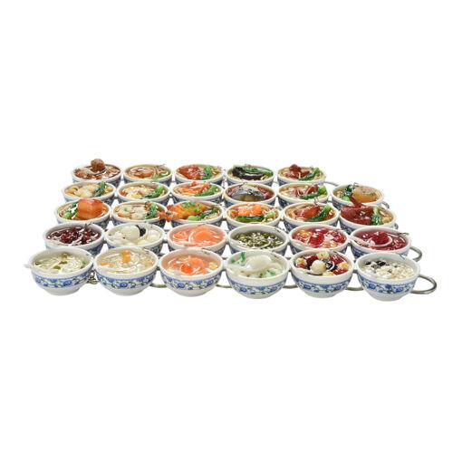 Simulation Food Key Chains Chinese Food Bowl Keyring Creative Bag ChainBLUS