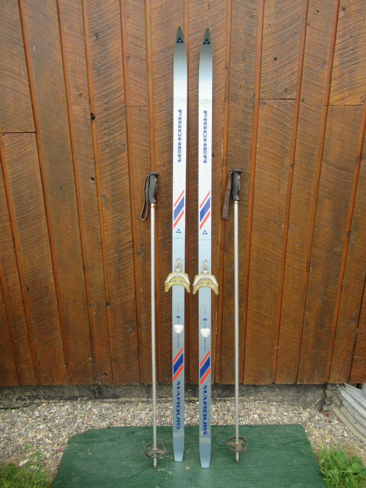 GREAT Ready to Use Cross Country 70  Long FISCHER  180 cm Skis +  Poles  new style