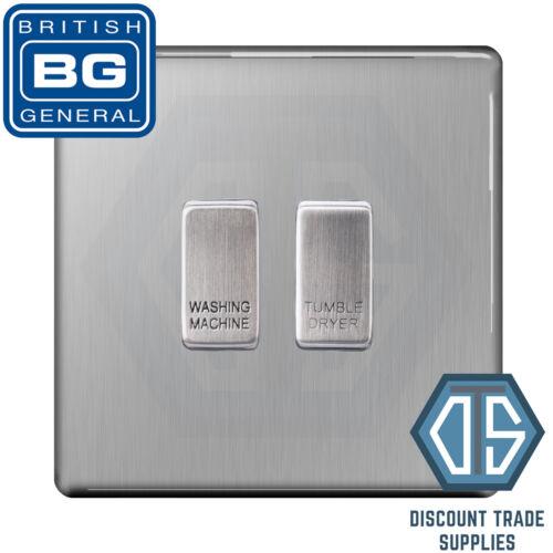 BG en acier brossé Screwless Custom Grille Switch Panel Kitchen Appliance 2 Gang