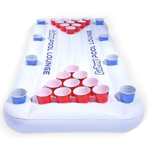Details About Pool Lounge Pool Lounger And Beer Pong Table Combo