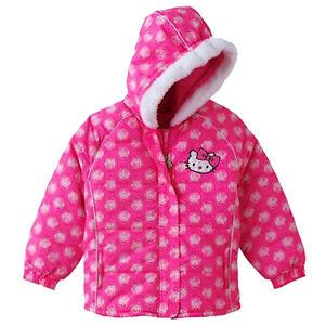 ae0058de5 HELLO KITTY SANRIO Pink Winter Coat Puffer Jacket NWT Girls Size 4 ...