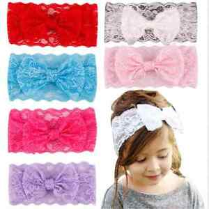 7PCS-Lots-Kids-Girl-Baby-Headband-Toddler-Lace-Bow-Flower-Hair-Band-Accessories