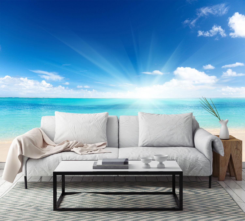 3D Sea Bright Sunshine 104 Wallpaper Decal Dercor Home Kids Nursery Mural  Home