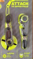 2 Guidesman Z Tools Zip-z-driver & Z- Light Attach Zipper Pull Gdc Gerber