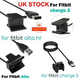 USB Charger Charging Cable Lead for Fitbit Alta HR Charge 3 2 Wristband Activity