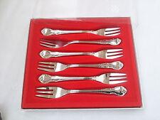 WMF Schönbrunn Cromargan Besteck 6 Kuchengabeln 15,8 cm Neuwertig OVP