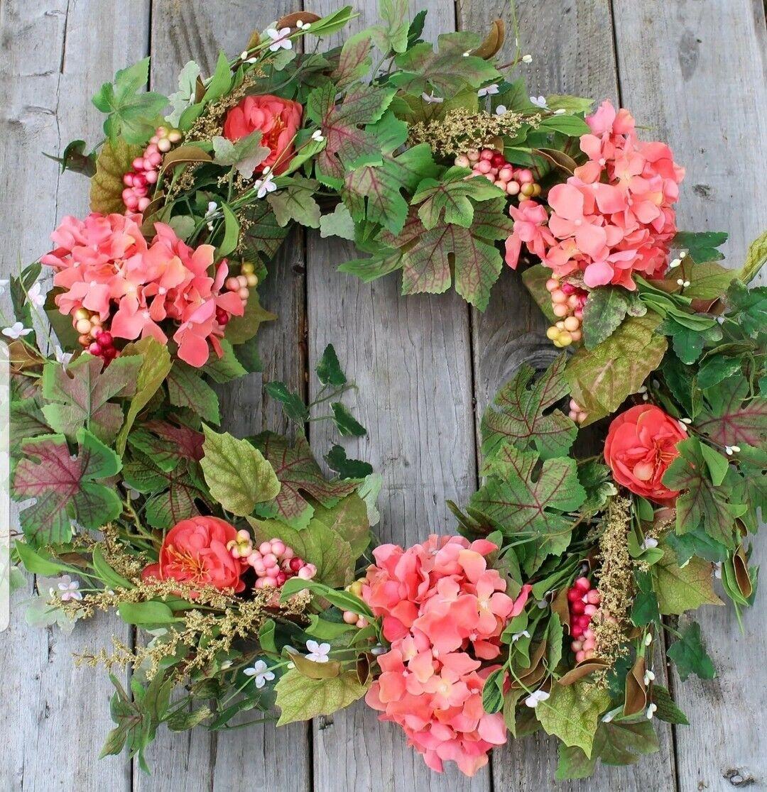 Genessee Silk Spring Door Wreath, The Wreath Company, 24  Beautiful Silk Front,
