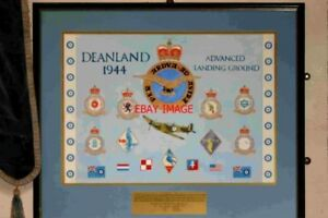 PHOTO-1980-COMMEMORATIVE-PLAQUE-TO-RAF-DEANLAND-RIPE-SUSSEX-THE-PLAQUE-CAN-BE-F