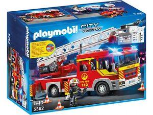 Playmobil-5362-Camion-Bomberos-con-Escalera-Luz-y-Sonido-Fire-Truck-Lights-Sound
