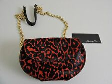 Note:  TNWT-$168 Kenneth Cole New York Red & Black Calf Hair and Leather Clutch