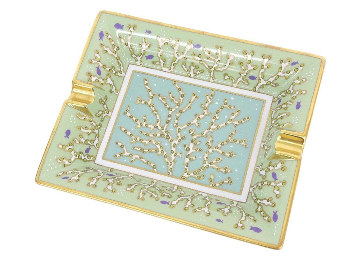 Hermes changement plateau Corail Vert Mer CENDRIER VIDE POCHE vaisselle vaisselle