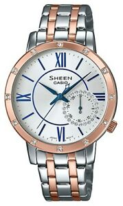 df7fff750 Image is loading CASIO-SHEEN-SHE-3046SGP-7BUER-WITH-SWAROVSKI-ELEMENTS