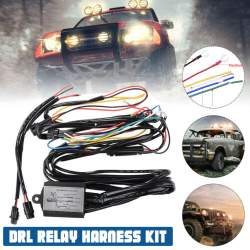 Car DRL Daytime Running Light Dimmer Dimming Relay Controller Switch Harness 12V