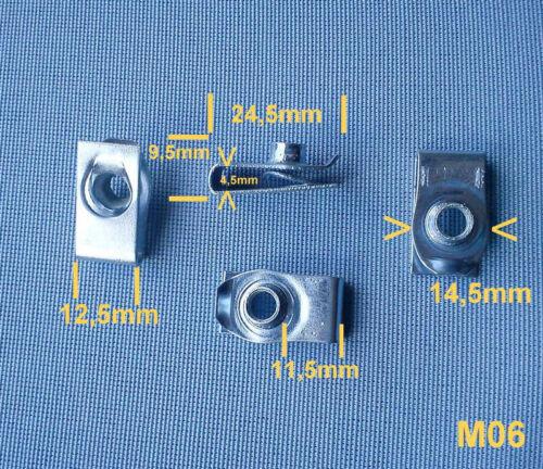 5x staffa di fissaggio lamiera madre parentesi m6 per FORD Chrysler GM 293 in metallo