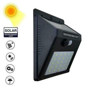 Solar 30LED Human Body PIR Sensor Motion Induction Light Lamp Outdoor Wall light