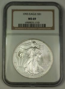NGC MS69 1993 American Silver Eagle