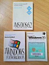Benutzerhandbücher MS-Dos 6.2, MS Windows für Workgroups, MS Windows 95