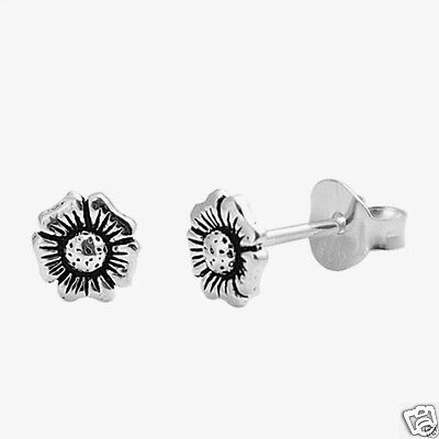 USA Seller Small Plumeria Stud Earrings Sterling Silver 925 Best Price Jewelry