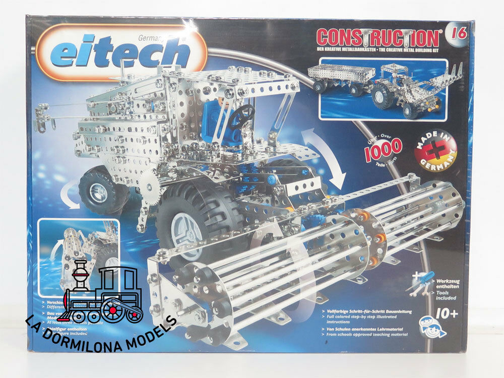 EDK4 EITECH C16 Metal Construction Sets Harvester Tractor+Pendant