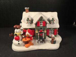 Garfield-Christmas-Village-1994-Christmas-at-Garfield-039-s-Danbury-Mint-Jim-Davis