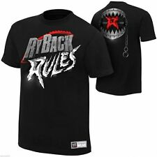 NWT MEN'S WWE RYBACK RULES T-SHIRT *FRONT & BACK GRAPHICS *SIZE LARGE