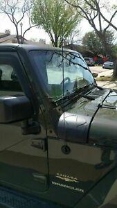 ANTENNA MAST Black for Jeep JK Wrangler 2007-2019 6 3//4 Inch NEW