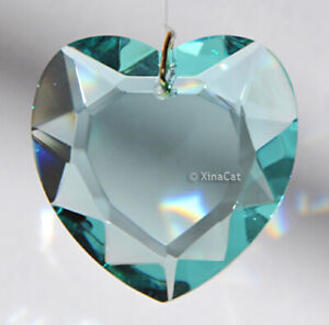 Aqua-Blue-Prism-28mm-Faceted-HEART-Austrian-Crystal-Pendant-over-1-inch