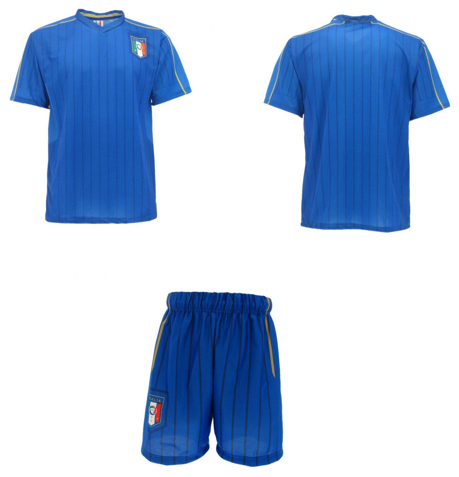 Set offizielle Italien national Trikot + Shorts Shorts Shorts FIGC neutra ohne Nome    Sofortige Lieferung  e8758e