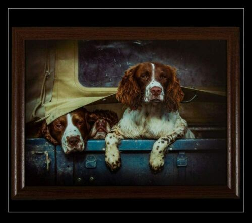 Country Matters Spaniels in a Landy Lap Tray TV Dinner Breakfast Cushioned