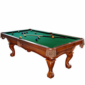 Brunswick Danbury 8 Foot Pool Table With Green Contender Cloth And Play Kit