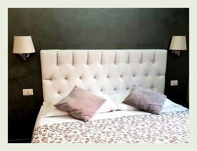 Home & Garden Testata Testiera Letto Sospesa Capitonne' Matrimoniale Ecopelle Swarovski Luxuriant In Design
