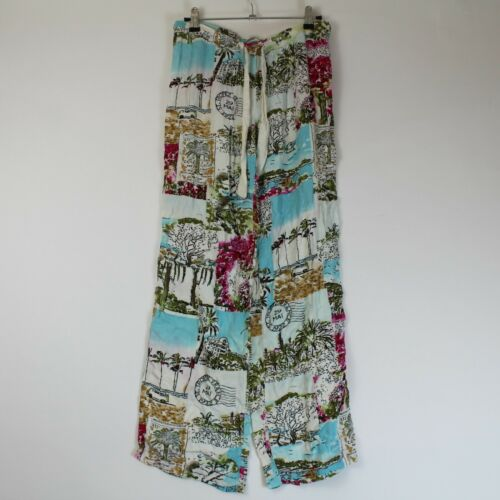 P.J. Salvage Pajama Pants Tropical Beach Colorful