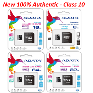 9a7d1e008 ADATA Micro SD Card Class 10 Flash Memory Card SDHC 50MB s 8GB 16GB ...
