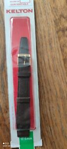 bracelet de montre KELTON cuir veritable marron  17,5mm