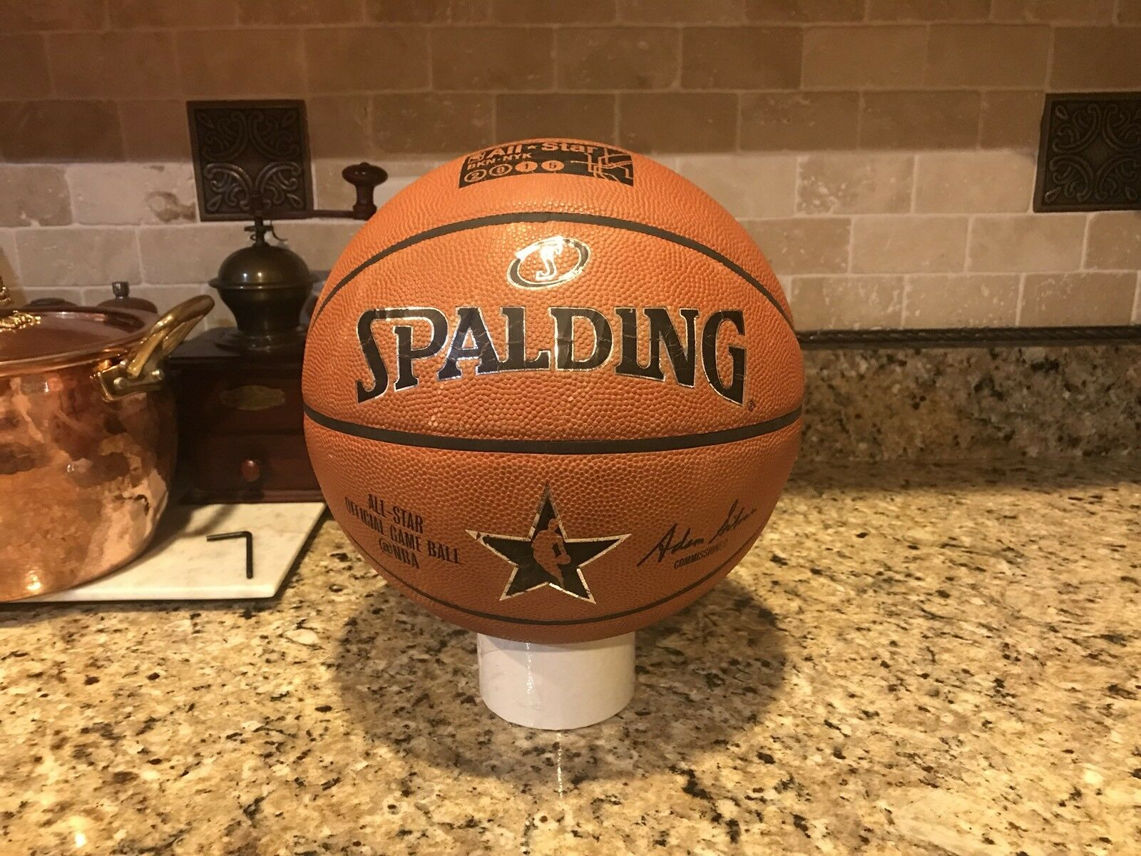 Spalding 2015 NBA New York All Star Official Game Ball Leather Basketball