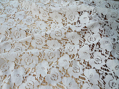 Lace Fabric Cotton Flower Soft Lace Wedding Fabric 55.1'' width 1 yard