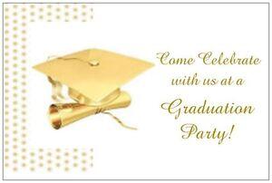 20-Golden-Cap-amp-DIPLOMA-GRADUATION-6x4-Party-Invitations-POSTCARDS
