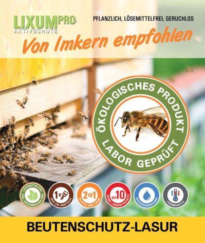 Bienenkästen BIO Lasur ; 10 Jahre Langzeitschutz mit nur EINEM Anstrich