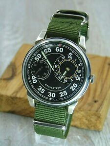Molniya Regulateur mechanical Military Black Dial Soviet Era mens watch