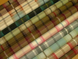 Wool-Effect-Washable-Thick-Tartan-Plaid-Upholstery-amp-Curtain-Designer-Fabric