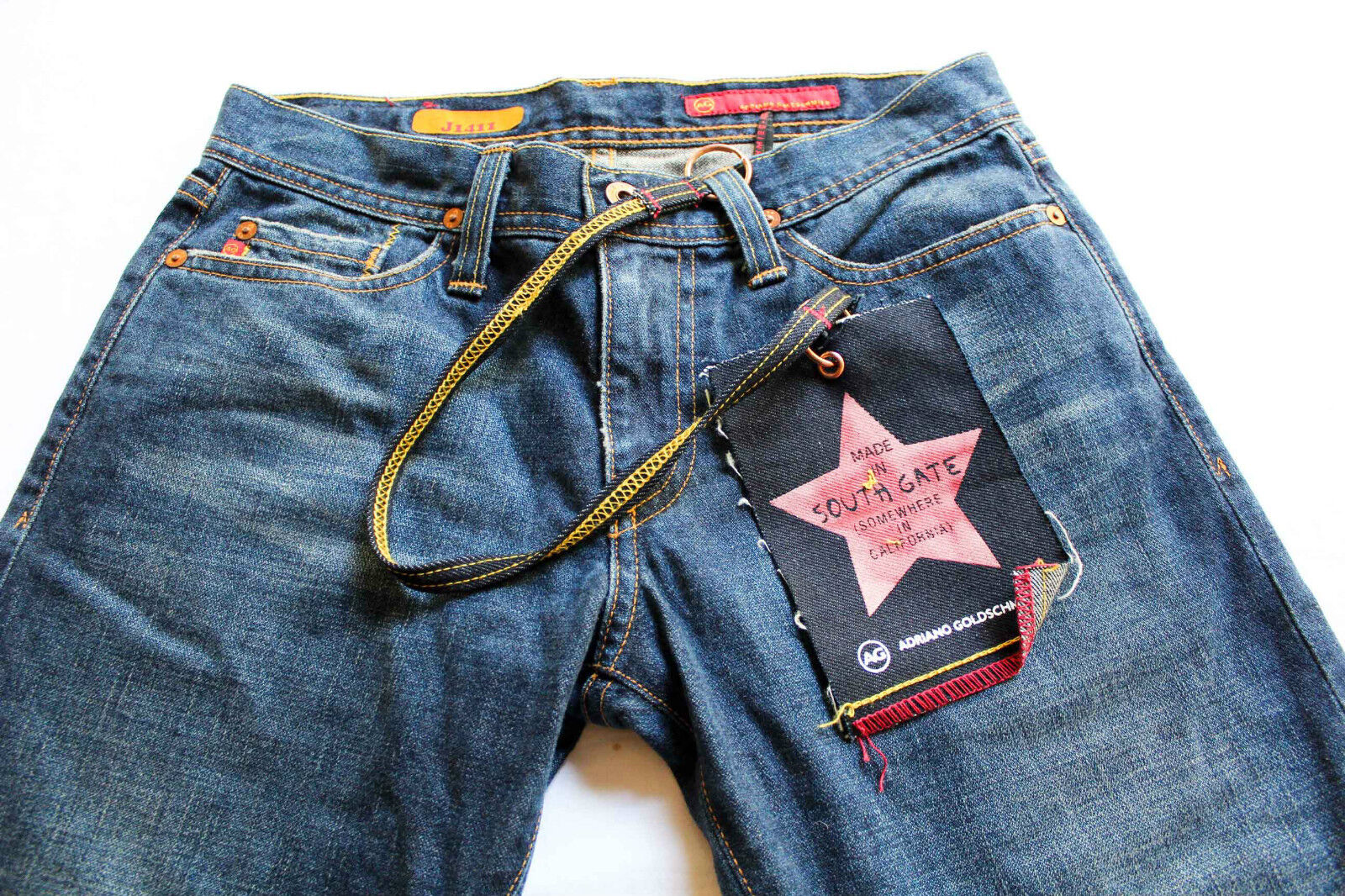 AG Adriano Goldschmied USA Femme Stiefelcut Blau Denim Jeans Neuf Avec Étiquettes 28R 28x33  158