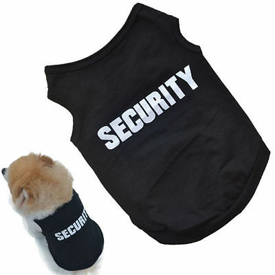 Cat Small Dog Puppy Vest T-Shirt Coat Pet Clothes Summer Apparel Costumes Black