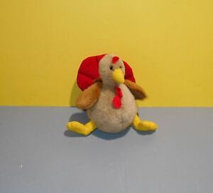 "8"" Applause #50571 Autumn Harvest Turkey Bean Tush Stuffed Plush Holiday Bird"