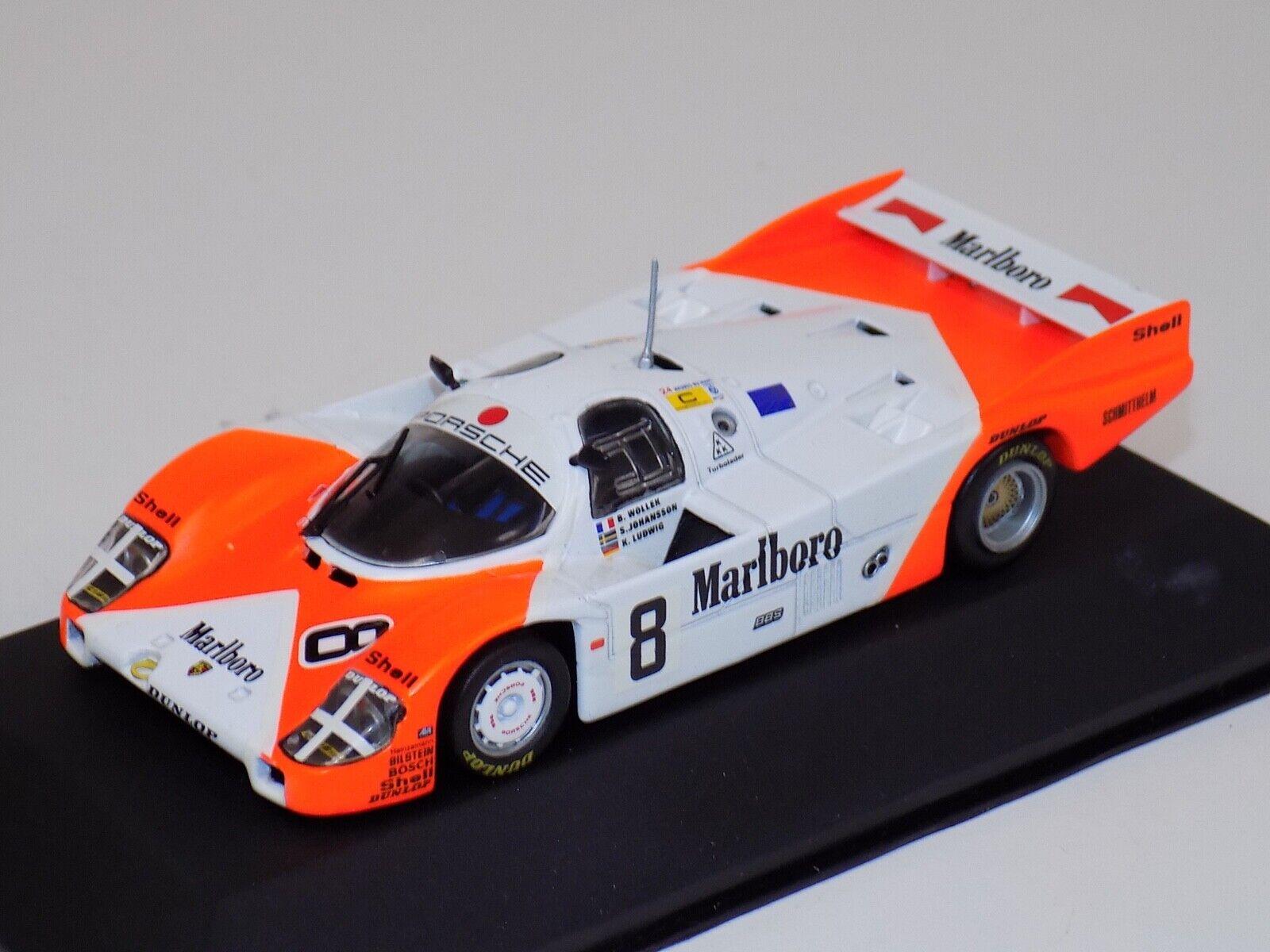 1 43 Quartzo Porsche 956 Car  8 from 1983 LeMans  SponsGoldt by MarlbGold Q3055