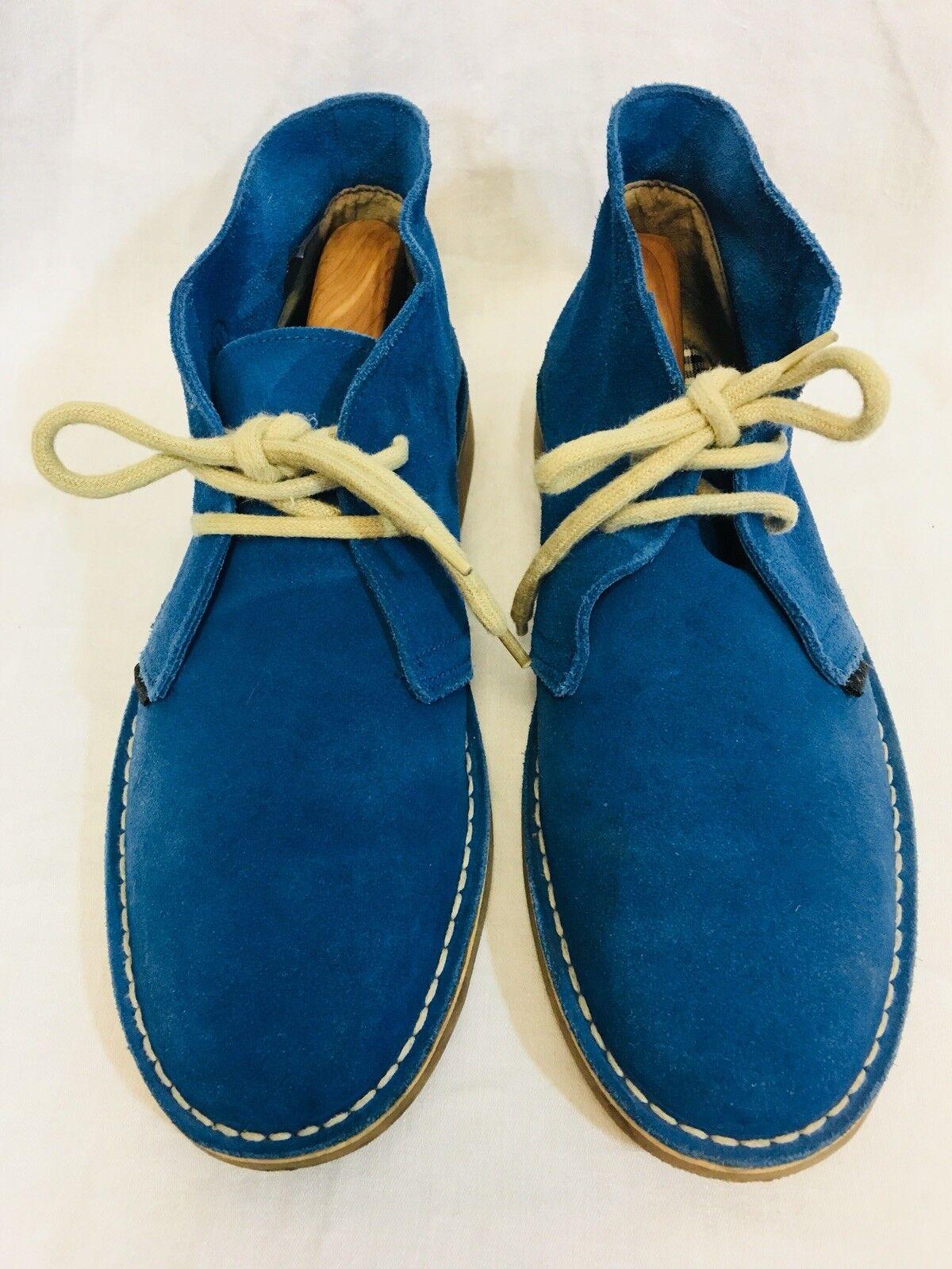 Ben Sherman Suede Desert Chukka Boots bluee Mens 41 9-1 2