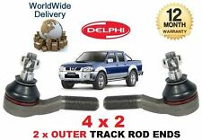 FOR NISSAN NP300 & PICKUP D22 & NAVARA 1998-->NEW 2 x OUTER TRACK ROD END SET