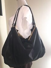 NEW WITH TAG BOTTEGA VENETA WAXED NAPPA LEATHER BLACK SATCHEL TOTE HANDBAG BAG
