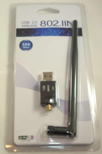 USB Wifi Wireless Wlan Adapter Module RTL8192EU Raspberry Pi 5DBi 300Mbps